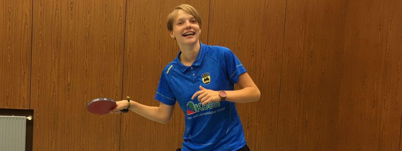 Celina Weber verteidigt ihren Kreismeistertitel