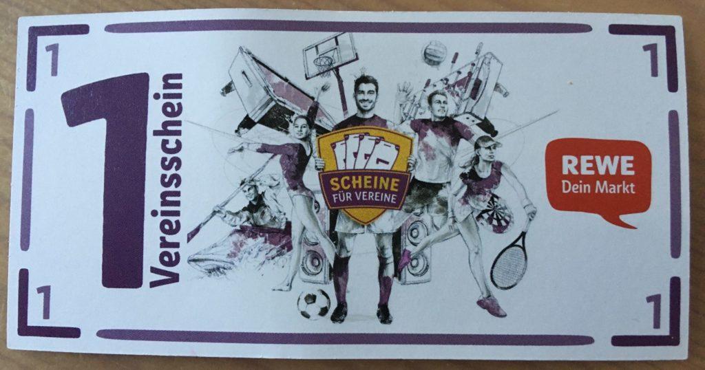 REWE-Scheine für Vereine: Wir machen mit!
